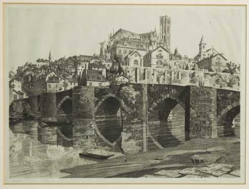 John Taylor Arms, Conn., Maryland, Mass. (1887-1953) Etching