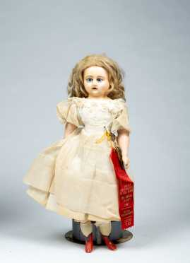 "19"" Wax Over Composition German Doll"