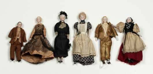 Six Doll House Dolls