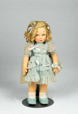 "11"" Felt and Cloth Lenci Doll"