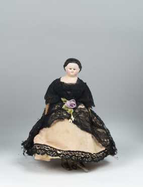"11"" 1862 Autoperipetikos Mechanical Wind Walking Doll"