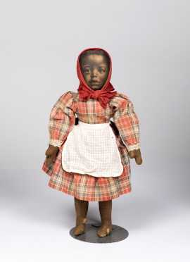 "15"" Black All Cloth Doll"