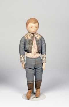 "16"" All Cloth Printed Ida Gutsell Doll Boy"