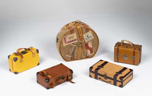 Five Doll's Candy Box Suitcases