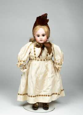 "19"" DEPOSE E8J Bisque Head Jumeau Doll"