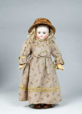 "14"" Tall 7 5/8"" H.C. French Bisque Socket Head Doll"