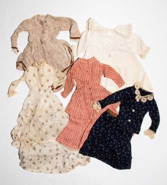 Five Two-Piece Doll Dresses