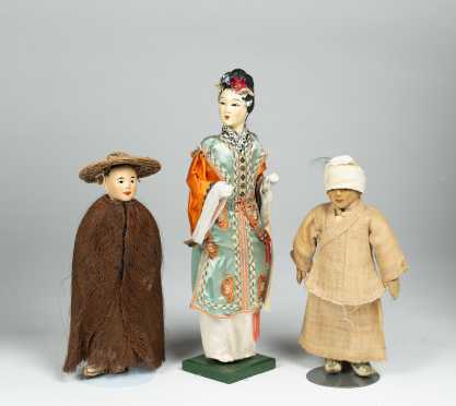 Lot of Three Chinese Dolls
