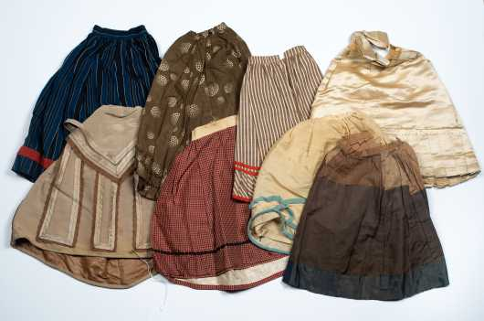Eight Large Doll Skirts