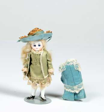"4 1/4"" All Bisque Doll"