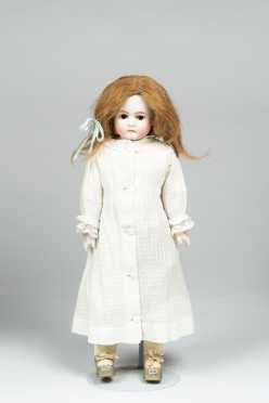 "14"" Doll with Bisque Shoulder Plate Marked 167-4"