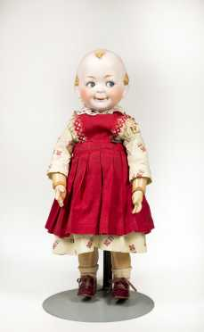 "16"" Hertel and Schwab 172 Character Bisque Head Doll - UPDATED"