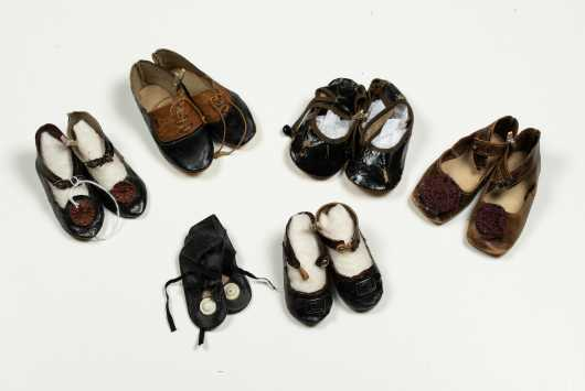 Six Pairs of Doll's Shoes