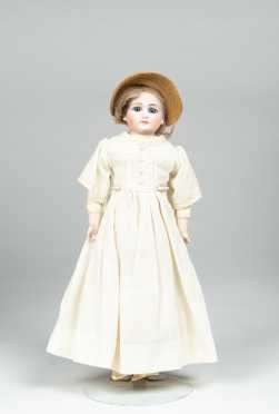"12 1/2"" Tall Doll with Bisque Shoulder Head"
