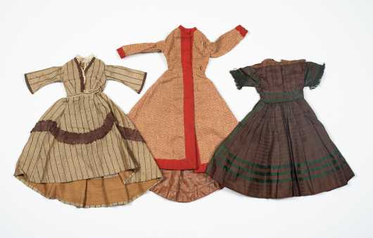Three Doll's Dresses