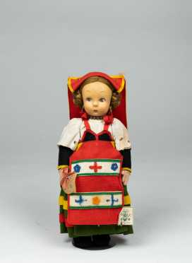 "11"" All Cloth Lenci Doll"