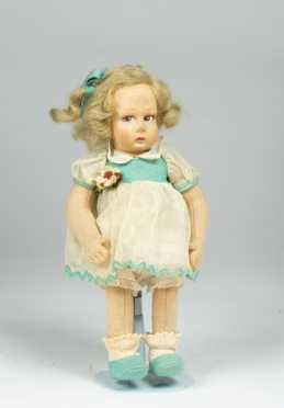 "10 1/2"" All Cloth Lenci Doll"