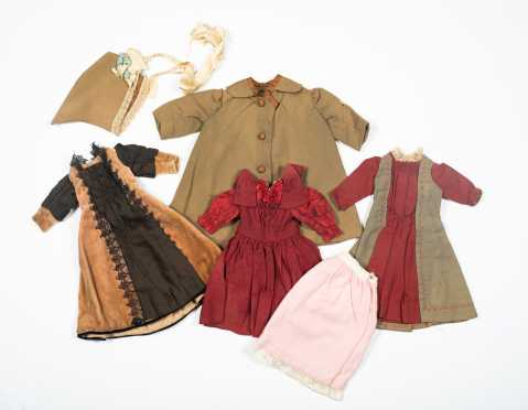 Six Pieces of Doll Clothing