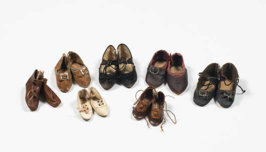 Seven Pairs of Doll's Shoes