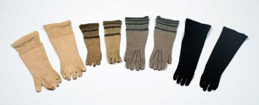 Four Pairs of Doll's Gloves