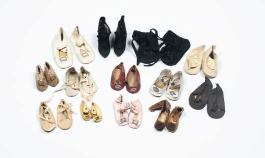 Thirteen Pairs of Doll Shoes