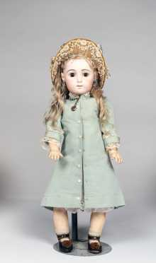 "20"" French Bisque Bebe Triste by Jumeau (size) 9 Marked on Bisque Head"
