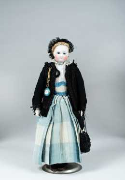 "18"" French Bisque Head Doll"