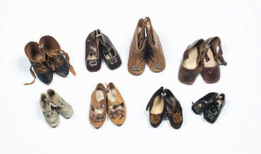 Eight Pairs of Doll's Shoes