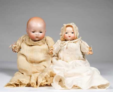Lot of Two German Baby Dolls