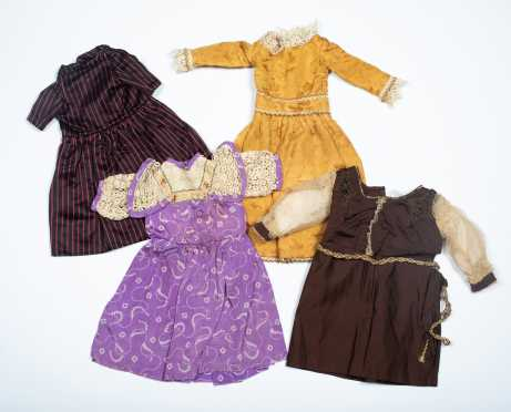 Lot of Four Doll's Dresses