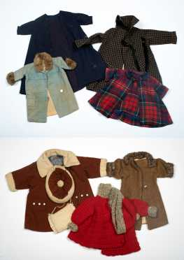 Ten Pieces of Doll's Coats and Hats