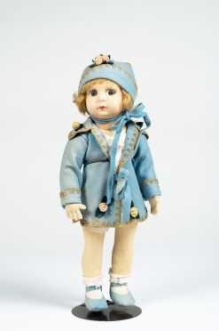 "16"" All Cloth Girl Doll"