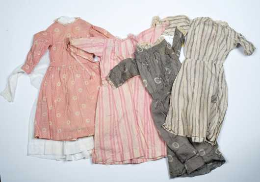 Five Large Doll's Dresses