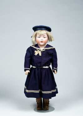 "17"" German Character Doll Marked 140 (size) 4"