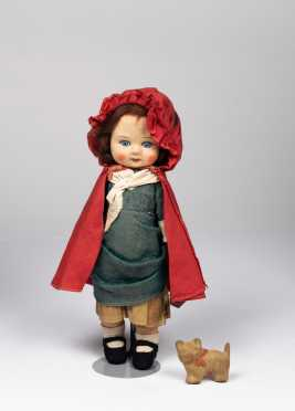 "12"" Chad Valley Mask Faced Cloth Doll"