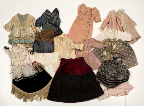 Seventeen Pieces of Small Doll's Clothing