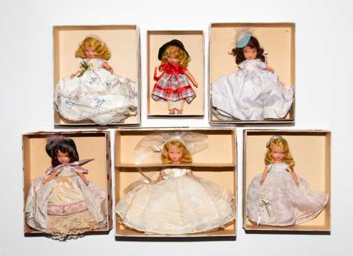 Lot of Six Nancy Ann Story Book Dolls