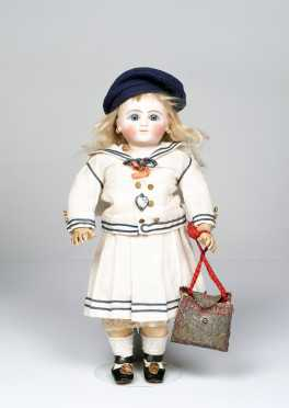 "12"" Ste C 2/0 Steiner SGDG PARIS Pressed Bisque French Socket Head Doll"