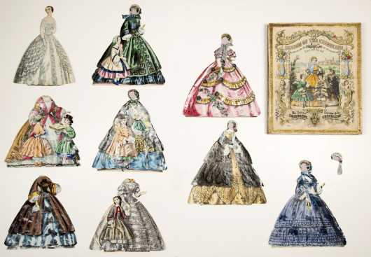 "Victorian Paper Doll ""The Season of the Crinoline, A New and Rich Doll"""