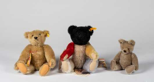 Lot of Three Steiff Bears
