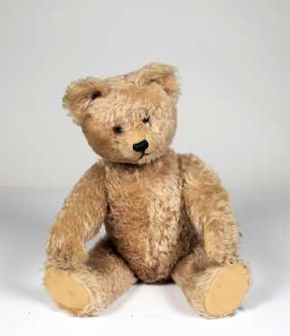 "21"" Yes-No Mohair Teddy Bear"