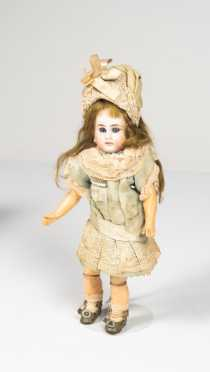 "9"" German Bisque So Called Belton Doll"