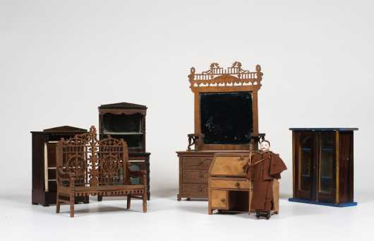 Six Pieces of Doll House Furniture