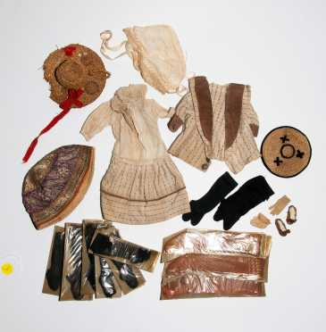 Lot of Antique Doll Clothing