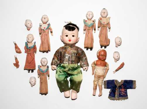 Lot of Dolls with Squeaker Voice Boxes