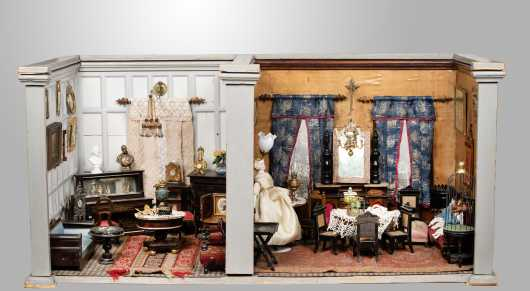 Early 1900s Two Room Diorama