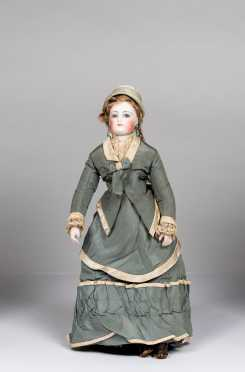 "14"" French Fashion Doll Marked 1 on Bisque Socket Head"