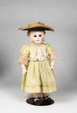 "16"" French Schmitt & Fils Bisque Socket Head Doll"
