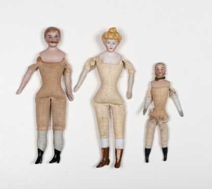 Lot of Three German Doll House Adults