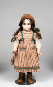 "21"" French Jules Steiner Bisque Socket Head Doll"